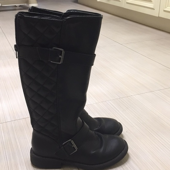girls size 2 black boots